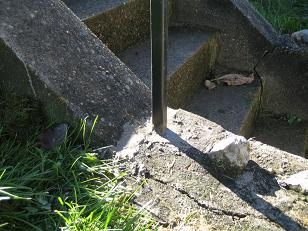cement the posts